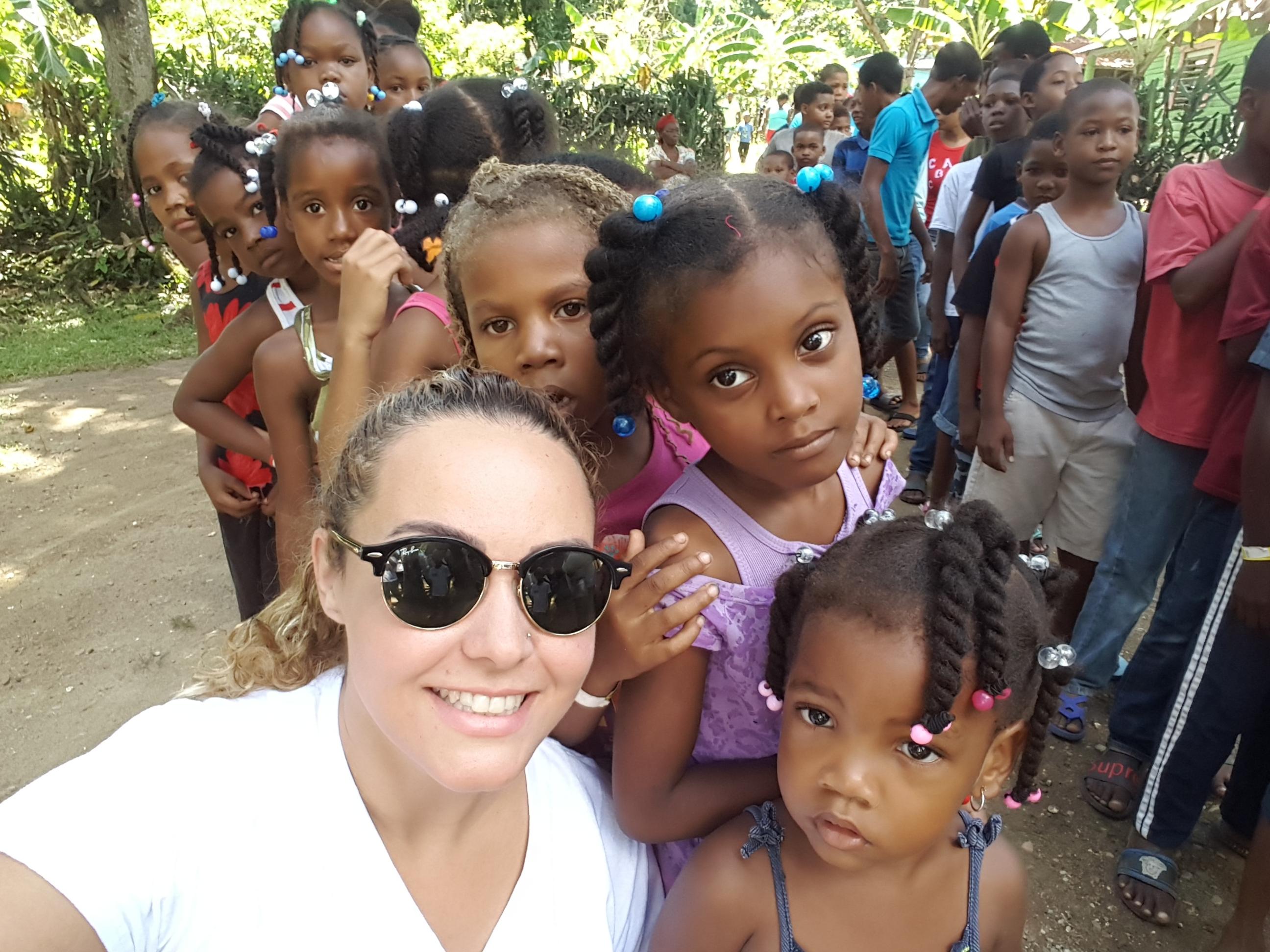 selfie with children