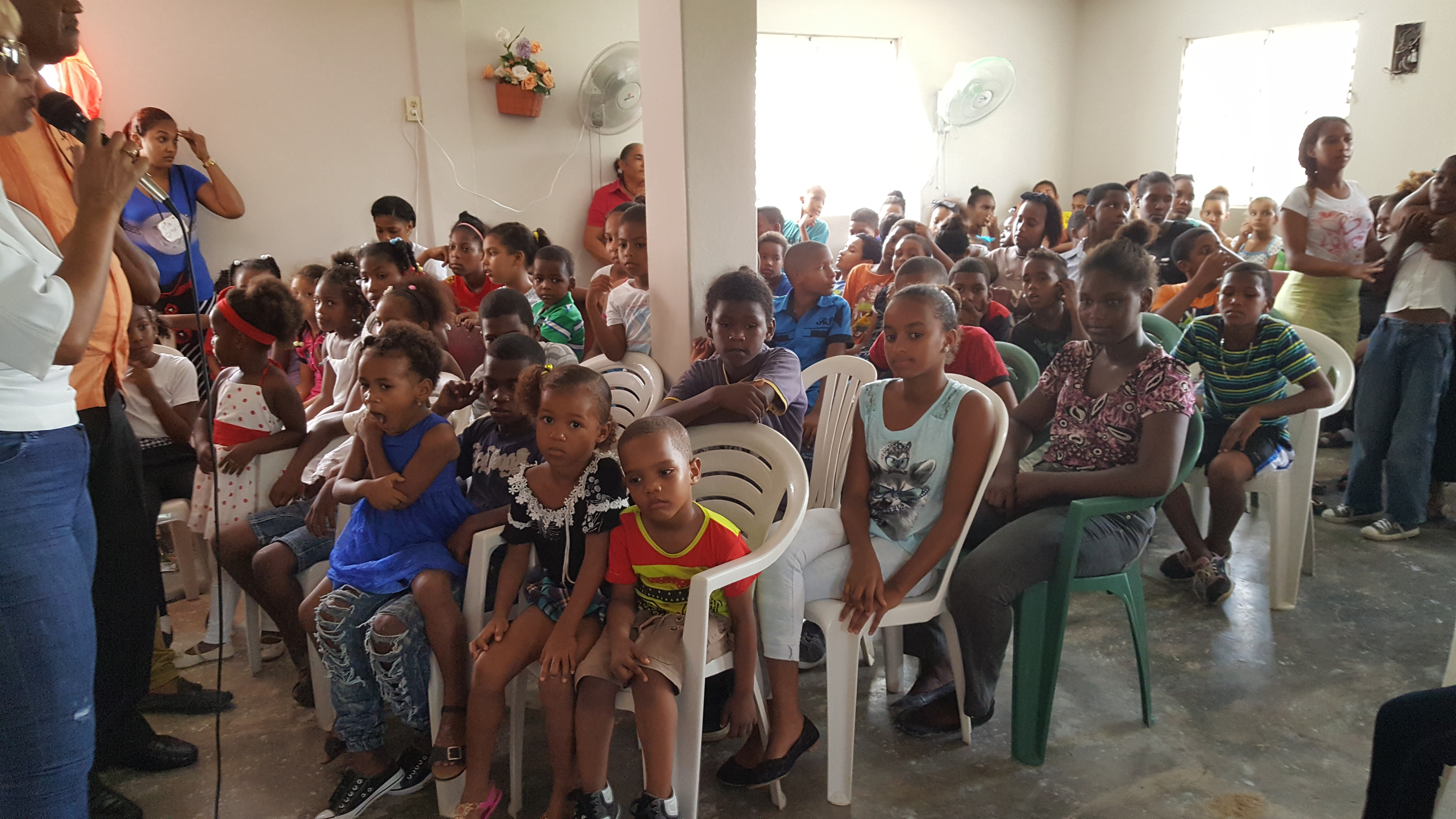 group of children in audience